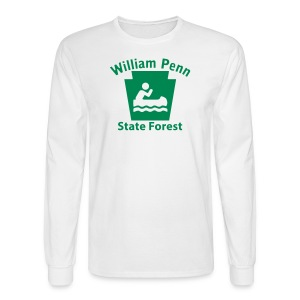 William Penn State Forest Keystone Boat - Men's Long Sleeve T-Shirt