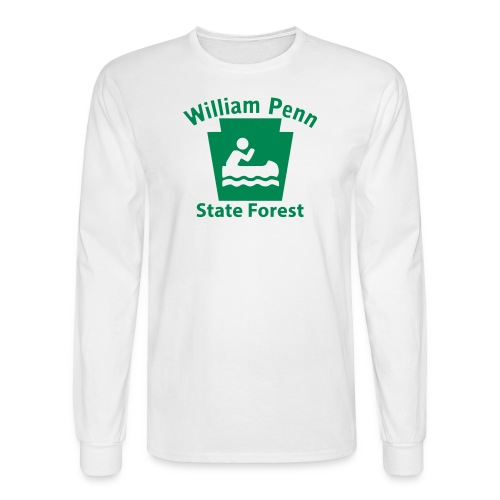 William Penn State Forest Keystone Boat - Men's Long Sleeve T-Shirt