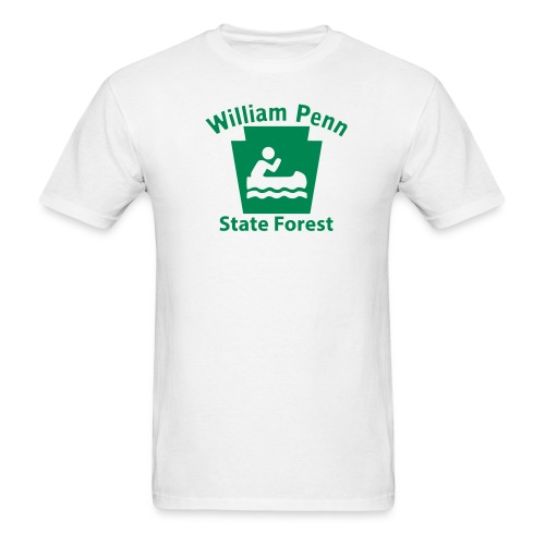 William Penn State Forest Keystone Boat - Men's T-Shirt