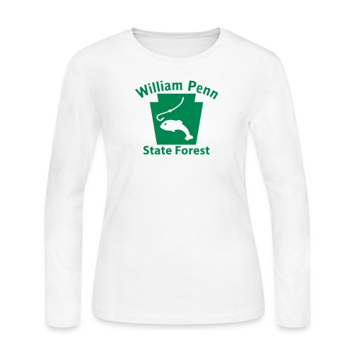 William Penn State Forest Keystone Fish - Women's Long Sleeve Jersey T-Shirt