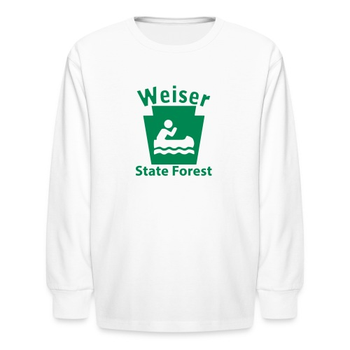 Weiser State Forest Keystone Boat - Kids' Long Sleeve T-Shirt
