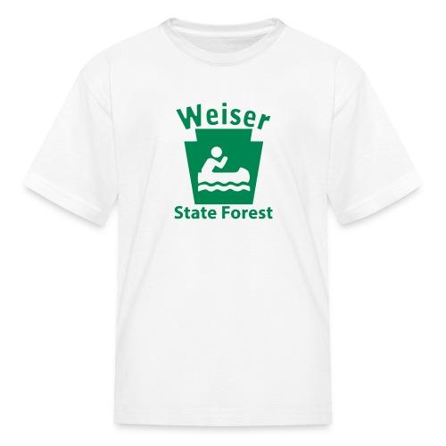 Weiser State Forest Keystone Boat - Kids' T-Shirt