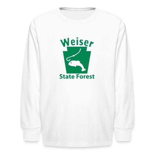 Weiser State Forest Keystone Fish - Kids' Long Sleeve T-Shirt