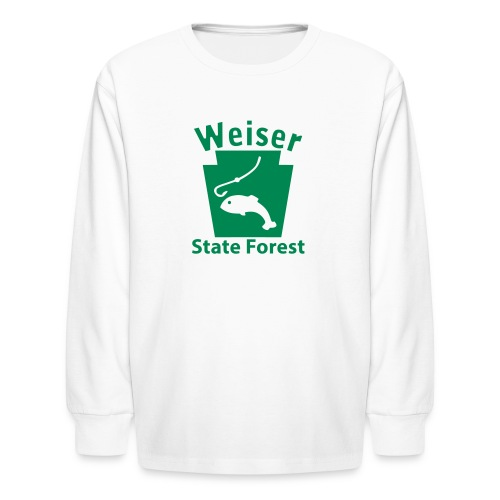 Weiser State Forest Keystone Fish - Kids' Long Sleeve T-Shirt