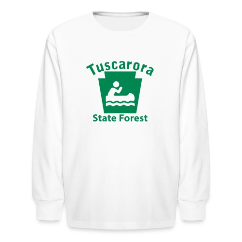 Tuscarora State Forest Keystone Boat - Kids' Long Sleeve T-Shirt