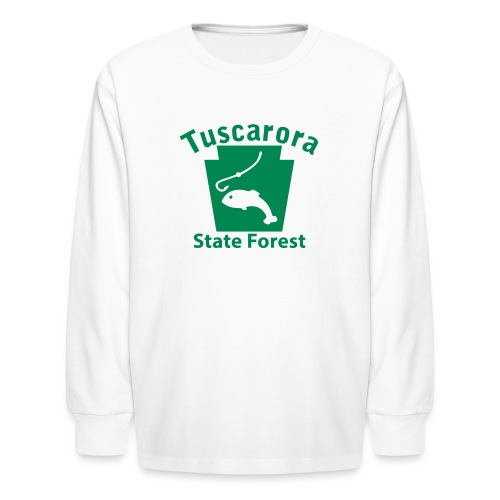 Tuscarora State Forest Keystone Fish - Kids' Long Sleeve T-Shirt