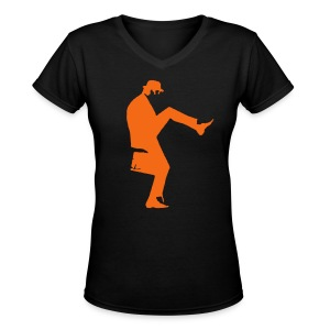 John Cleese Silly Walk Women's Shirt - Women's V-Neck T-Shirt