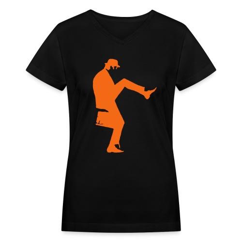 John Cleese Silly Walk Women's Shirt - Women's V-Neck T-Shirt