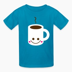 Turquoise cup Kids' Shirts
