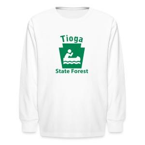 Tioga State Forest Keystone Boat - Kids' Long Sleeve T-Shirt