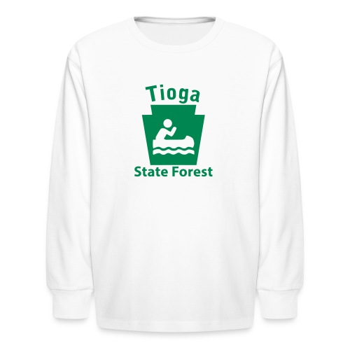 Tioga State Forest Keystone Boat - Kids' Long Sleeve T-Shirt