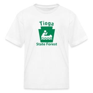 Tioga State Forest Keystone Boat - Kids' T-Shirt