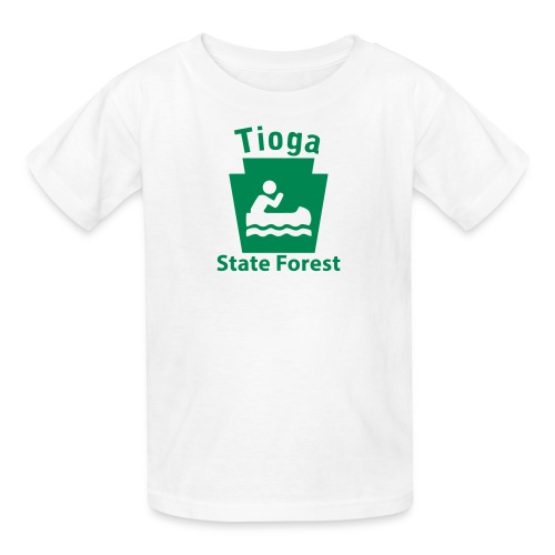 Tioga State Forest Keystone Boat - Kids' T-Shirt