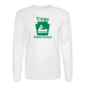 Tioga State Forest Keystone Boat - Men's Long Sleeve T-Shirt
