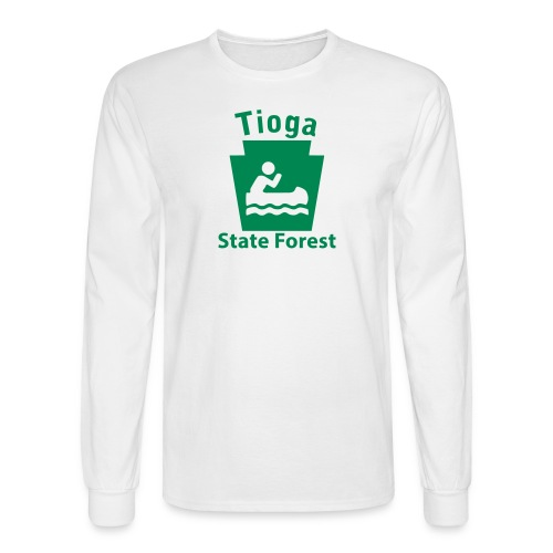 Tioga State Forest Keystone Boat - Men's Long Sleeve T-Shirt
