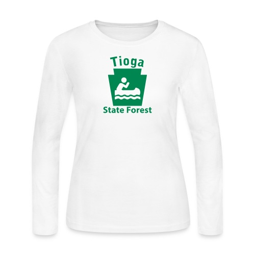 Tioga State Forest Keystone Boat - Women's Long Sleeve Jersey T-Shirt