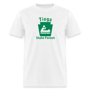 Tioga State Forest Keystone Boat - Men's T-Shirt