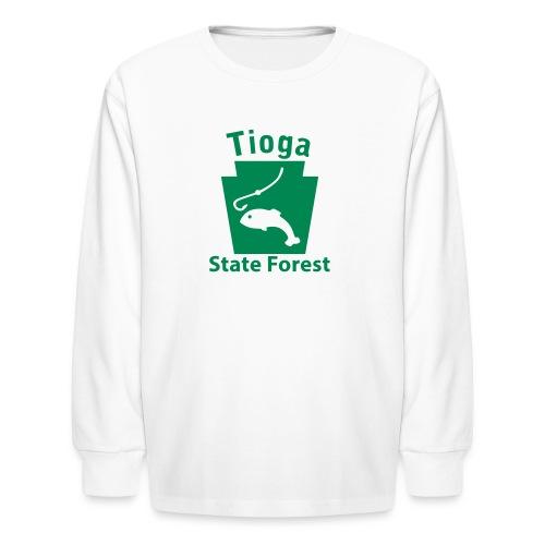 Tioga State Forest Keystone Fish - Kids' Long Sleeve T-Shirt