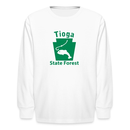 Tioga State Forest Keystone Fish - Kids' Long Sleeve T-Shirt