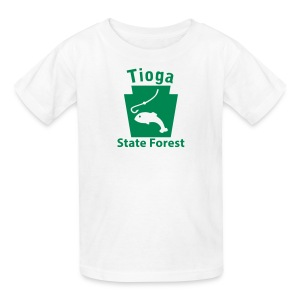 Tioga State Forest Keystone Fish - Kids' T-Shirt