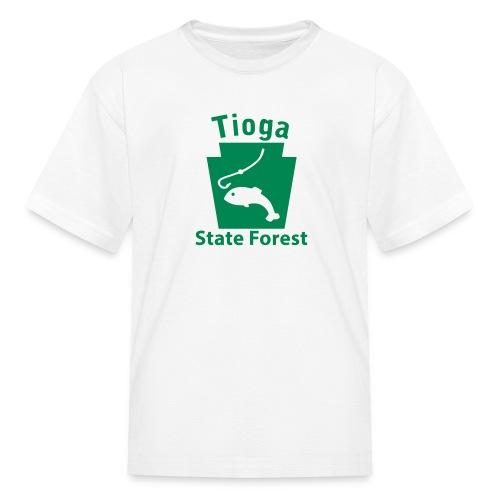 Tioga State Forest Keystone Fish - Kids' T-Shirt