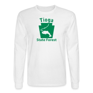 Tioga State Forest Keystone Fish - Men's Long Sleeve T-Shirt