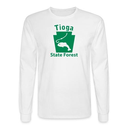 Tioga State Forest Keystone Fish - Men's Long Sleeve T-Shirt