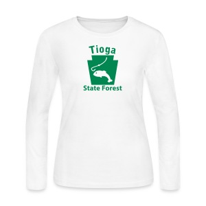 Tioga State Forest Keystone Fish - Women's Long Sleeve Jersey T-Shirt