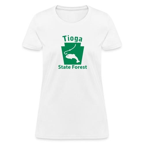 Tioga State Forest Keystone Fish - Women's T-Shirt