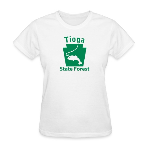 Tioga State Forest Keystone Fish - Women's T-Shirt