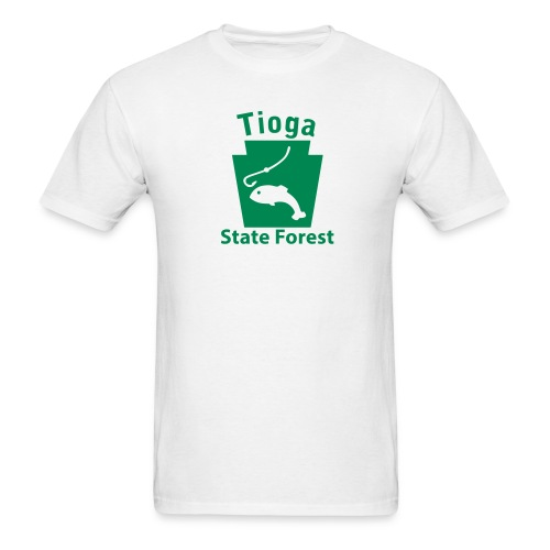 Tioga State Forest Keystone Fish - Men's T-Shirt