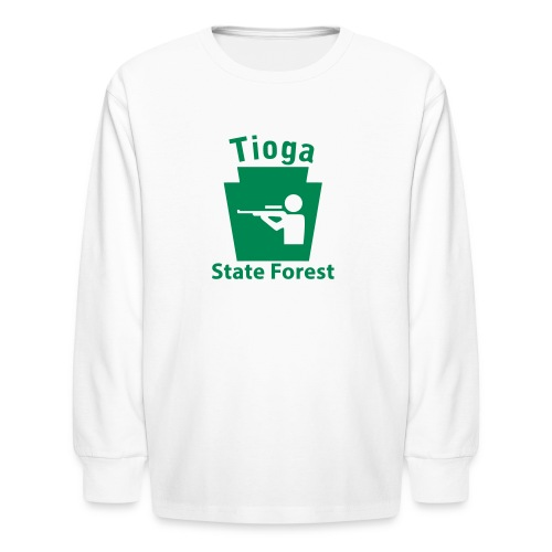 Tioga State Forest Keystone Hunt - Kids' Long Sleeve T-Shirt