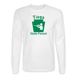 Tioga State Forest Keystone Hunt - Men's Long Sleeve T-Shirt