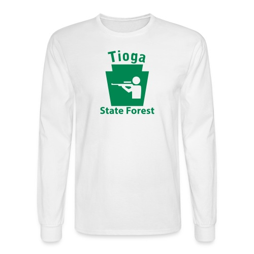 Tioga State Forest Keystone Hunt - Men's Long Sleeve T-Shirt