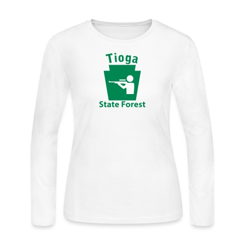 Tioga State Forest Keystone Hunt - Women's Long Sleeve Jersey T-Shirt