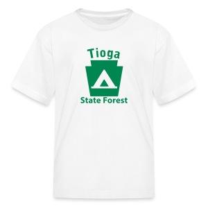 Tioga State Forest Keystone Camp - Kids' T-Shirt