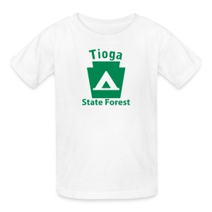 Tioga State Forest Keystone Camp - Kids' T-Shirt