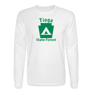 Tioga State Forest Keystone Camp - Men's Long Sleeve T-Shirt