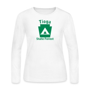 Tioga State Forest Keystone Camp - Women's Long Sleeve Jersey T-Shirt