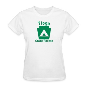 Tioga State Forest Keystone Camp - Women's T-Shirt