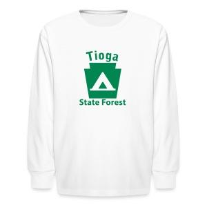 Tioga State Forest Keystone Camp - Kids' Long Sleeve T-Shirt