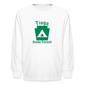 Tioga State Forest Keystone Camp - Kids' Long Sleeve T-Shirt