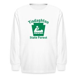Tiadaghton State Forest Keystone Boat - Kids' Long Sleeve T-Shirt