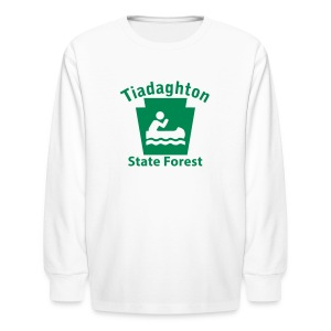 Tiadaghton State Forest Keystone Boat - Kids' Long Sleeve T-Shirt