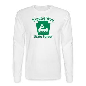 Tiadaghton State Forest Keystone Boat - Men's Long Sleeve T-Shirt