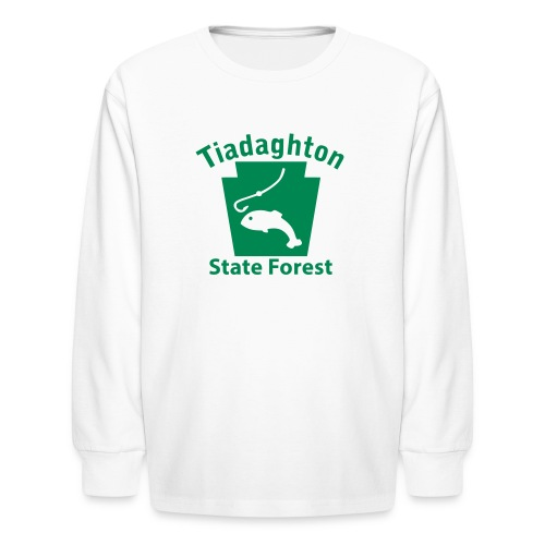 Tiadaghton State Forest Keystone Fish - Kids' Long Sleeve T-Shirt