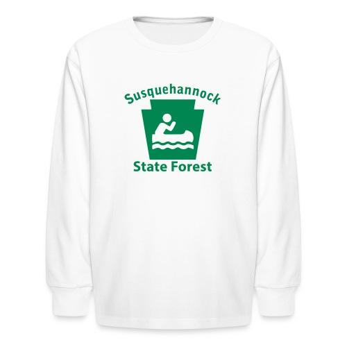 Susquehannock State Forest Keystone Boat - Kids' Long Sleeve T-Shirt
