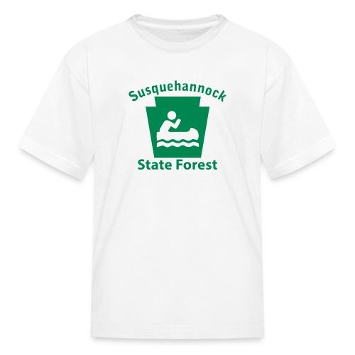 Susquehannock State Forest Keystone Boat - Kids' T-Shirt