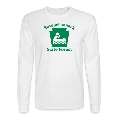 Susquehannock State Forest Keystone Boat - Men's Long Sleeve T-Shirt