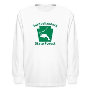 Susquehannock State Forest Keystone Fish - Kids' Long Sleeve T-Shirt